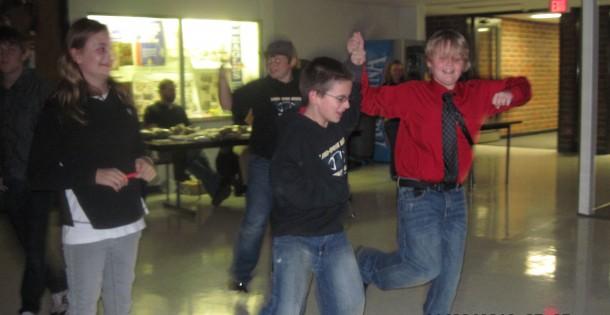 Kalona OC Mid Prairie boys dancing