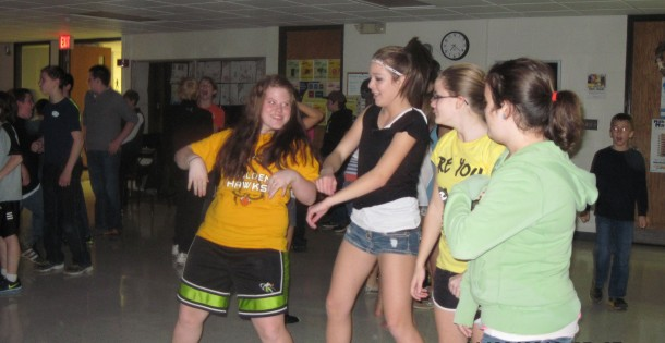 Kalona OC Mid Prairie girls dancing