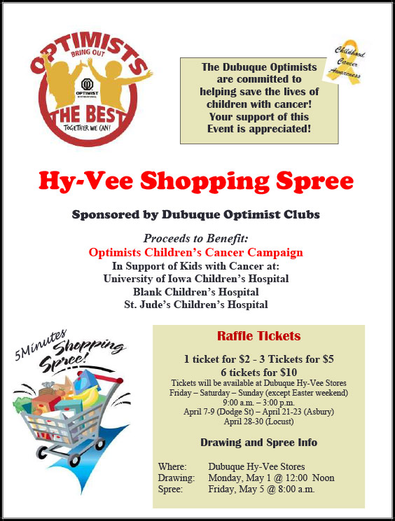 Dubuque Hy-Vee Shopping Spree @ Dubuque Hy-Vee Stores
